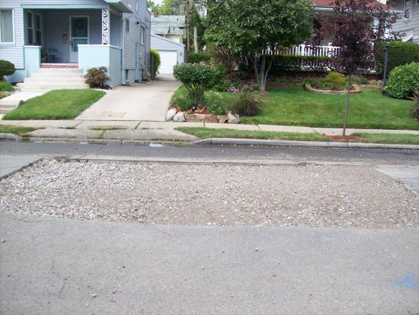 Repairs made to street.