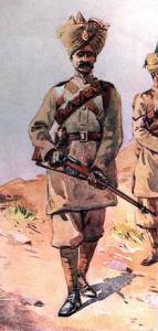 Sepoy soldier (image courtesy of Wikimedia Commons)